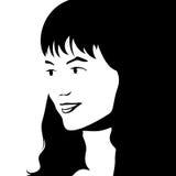 Girl's face vector illustration