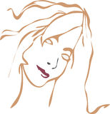 Girl's face. A illustration of a girl's face stock illustration