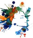Girl's face royalty free illustration