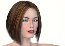 Girl's face. Stock Photos