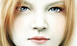 Girl's face. Royalty Free Stock Photos