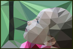 The girl's face forest nature geometric Royalty Free Stock Photo
