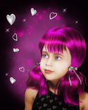 Girl's fantasy Stock Photography