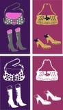 Girl?s fashion accessories Stock Image