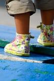 Girl?s feet Royalty Free Stock Photos