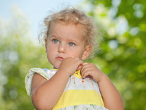 Girl's first grief Stock Photos