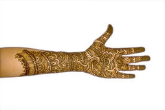 A Girl's Hand with Mehndi-1 Stock Photography