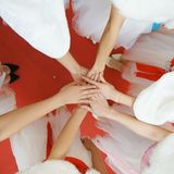 Girl`s hands royalty free stock image