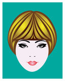 Girl's head. Head illustration face  girl's head vector illustration