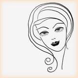 Girls head. Royalty Free Stock Photos