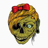 It is a girl's head zombie Royalty Free Stock Photography