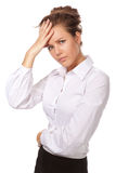 The girl's headache Stock Image