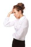 The girl's headache Royalty Free Stock Photos