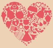 Girl's heart Stock Image
