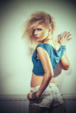 Girl from the 80's Royalty Free Stock Images
