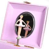 Girl's jewelery box. Little girls jewelery box with ballerina Stock Photography