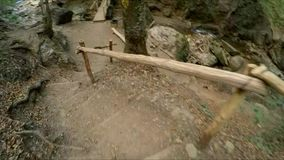 The girl`s legs of a tourist action camera stock video footage