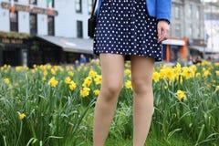 Girl`s legs Stock Photos
