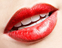 Girl's lips zone make-up Royalty Free Stock Photography