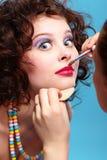 Girl's make up Stock Image