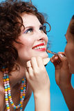 Girl's make up Royalty Free Stock Photos