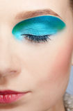 Girl's make-up close-up Stock Photography