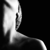 Girl's neck and shoulder. A moment of sensual abandonment Royalty Free Stock Photography