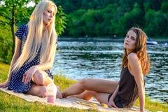 Girl's picnic Royalty Free Stock Photo