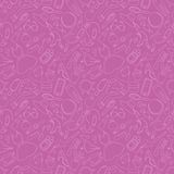 Girl`s pink seamless background Stock Image