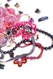 Girl's plastic jewelry Stock Photography