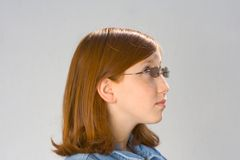 Girl's portrait. Portrait of the girl (profile view Stock Image
