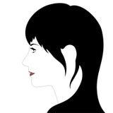 Girl's profile vector illustration