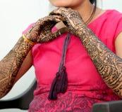 Girl`s Show Mehandi Design in Wedding. Girl`s Show Mehandi Design in Indian Wedding Ceremony Stock Photography
