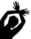 Girl's silhouette stock photos