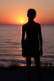 Girl's silhouette Stock Images