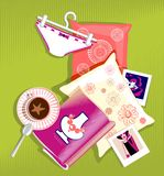 Girl's stuff Royalty Free Stock Photos