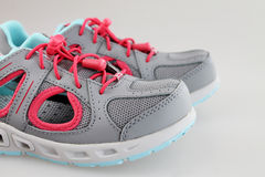 Girl's summer sport shoes Royalty Free Stock Image