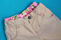 Girl's  trousers with  underpants Stock Photography
