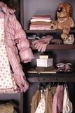 Girl's wardrobe stock photo