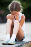 Girl sad portrait Royalty Free Stock Photography