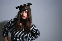 Girl sailor. Stock Images