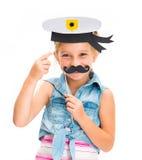 Girl in sailor hat Stock Photo