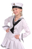 Girl in the sailor suit Royalty Free Stock Image