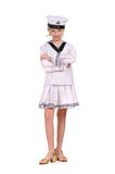 Girl in the sailor suit Royalty Free Stock Photography