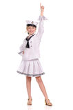 Girl in the sailor suit Royalty Free Stock Photos