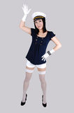 Girl in sailor uniform. Royalty Free Stock Photos