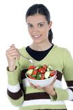 Girl with salad Stock Photo