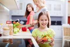 Girl with salad Stock Image