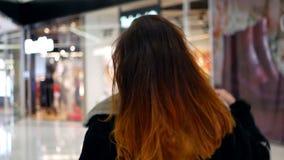 Girl sale walk shopping stock footage