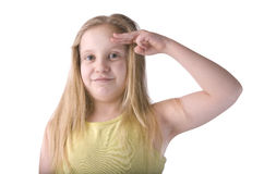 Girl Salute Royalty Free Stock Image